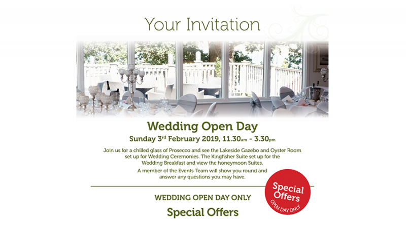 Wedding Open Day @ Lakeside Park Hotel & Spa