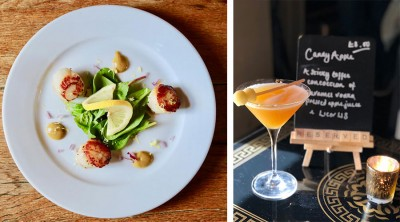 Recipe: Seared Scallops, Cauliflower Puree and a Candied Apple Cocktail