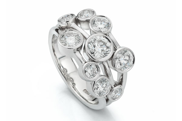 Bowery 2-Carat Diamond Ring Bubble Design