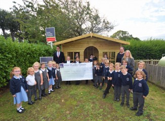 Brighstone Primary School are sold on their brand new play house!