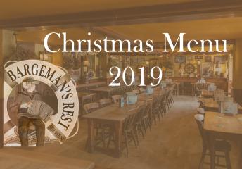 The Bargeman's Rest Christmas Menu
