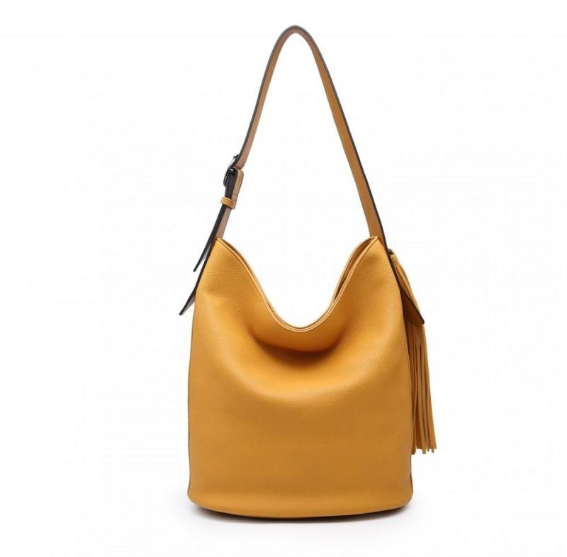 Slouch Shoulder Bag with Tassel