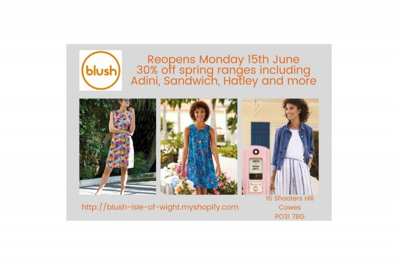 Blush reopens 15th June!