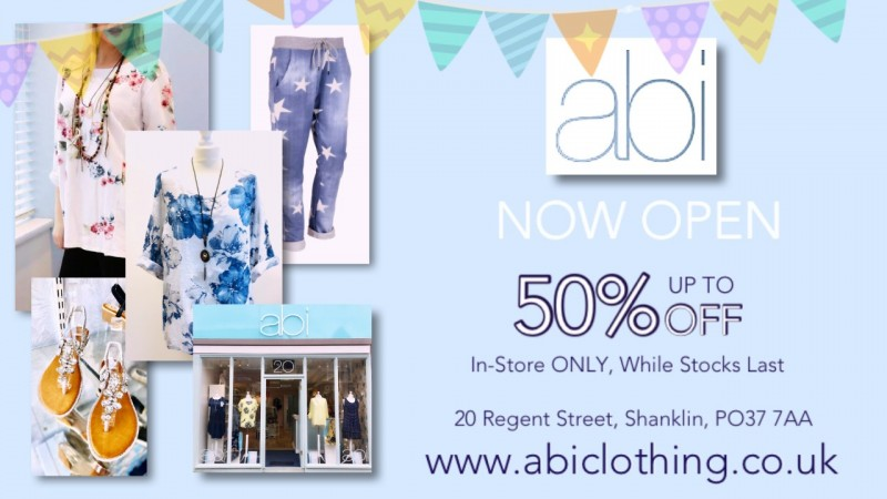 Abi Shanklin, Now Open In-Store and Online